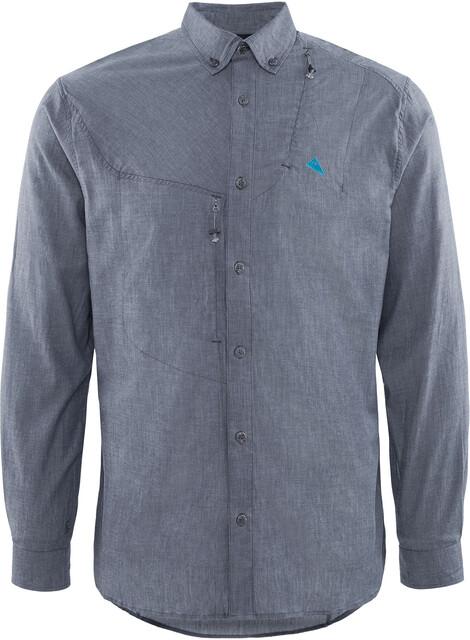 Klättermusen M's Lofn Shirt Storm Blå Melange